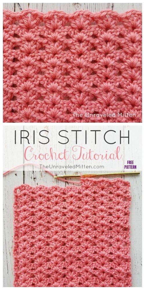 Crochet Iris Stitch Free Crochet Patterns - Video - DIY Magazine