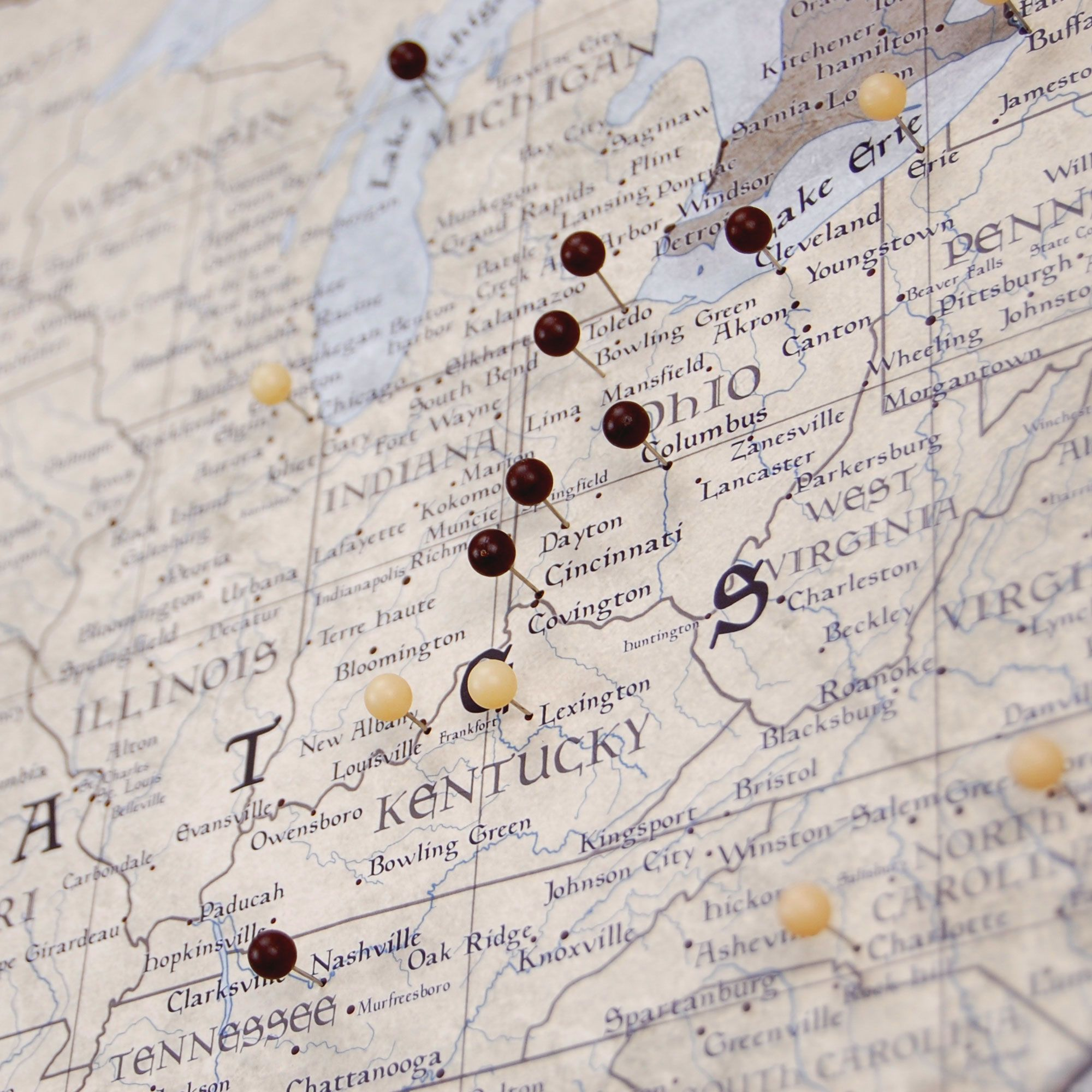 Map Of Usa With Pins.Usa Travel Map Pin Board W Push Pins Rustic Vintage In 2019