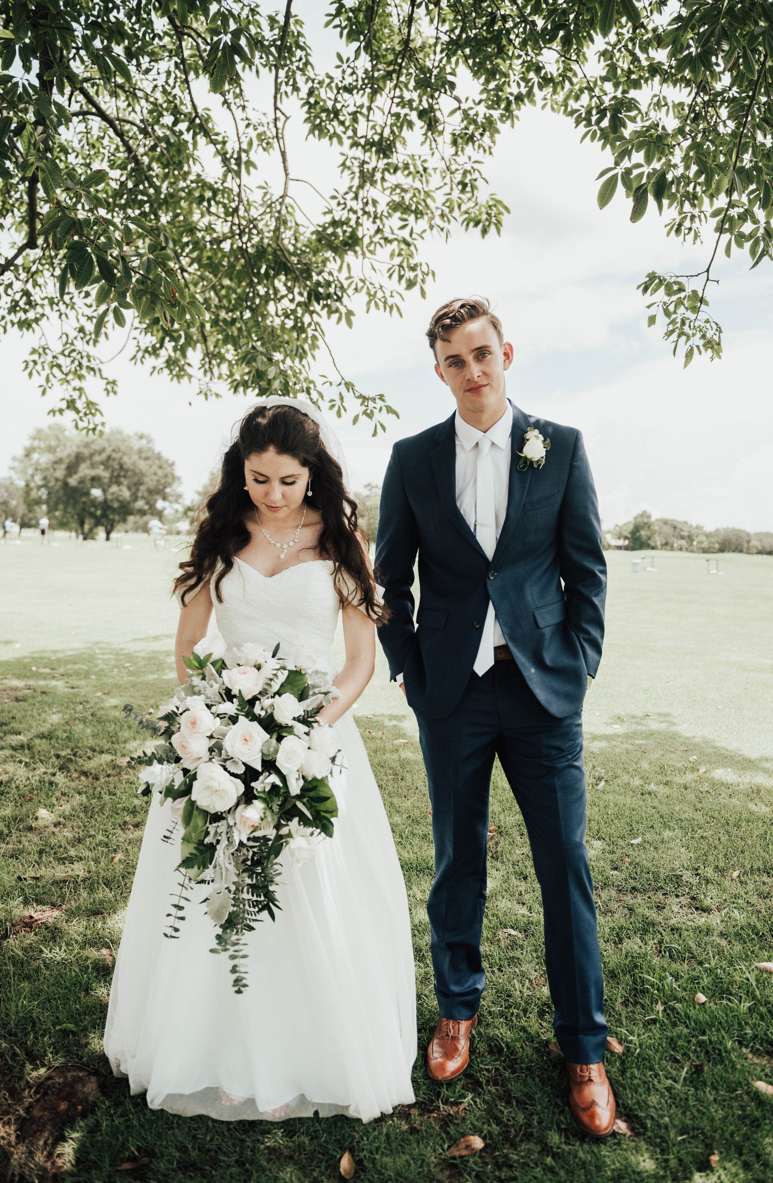 Off The Shoulder Bridal Gown Bride Groom Photo Navy Groom Bride Groom Photos Bridal Gowns Navy Blue Groom [ 4000 x 2614 Pixel ]