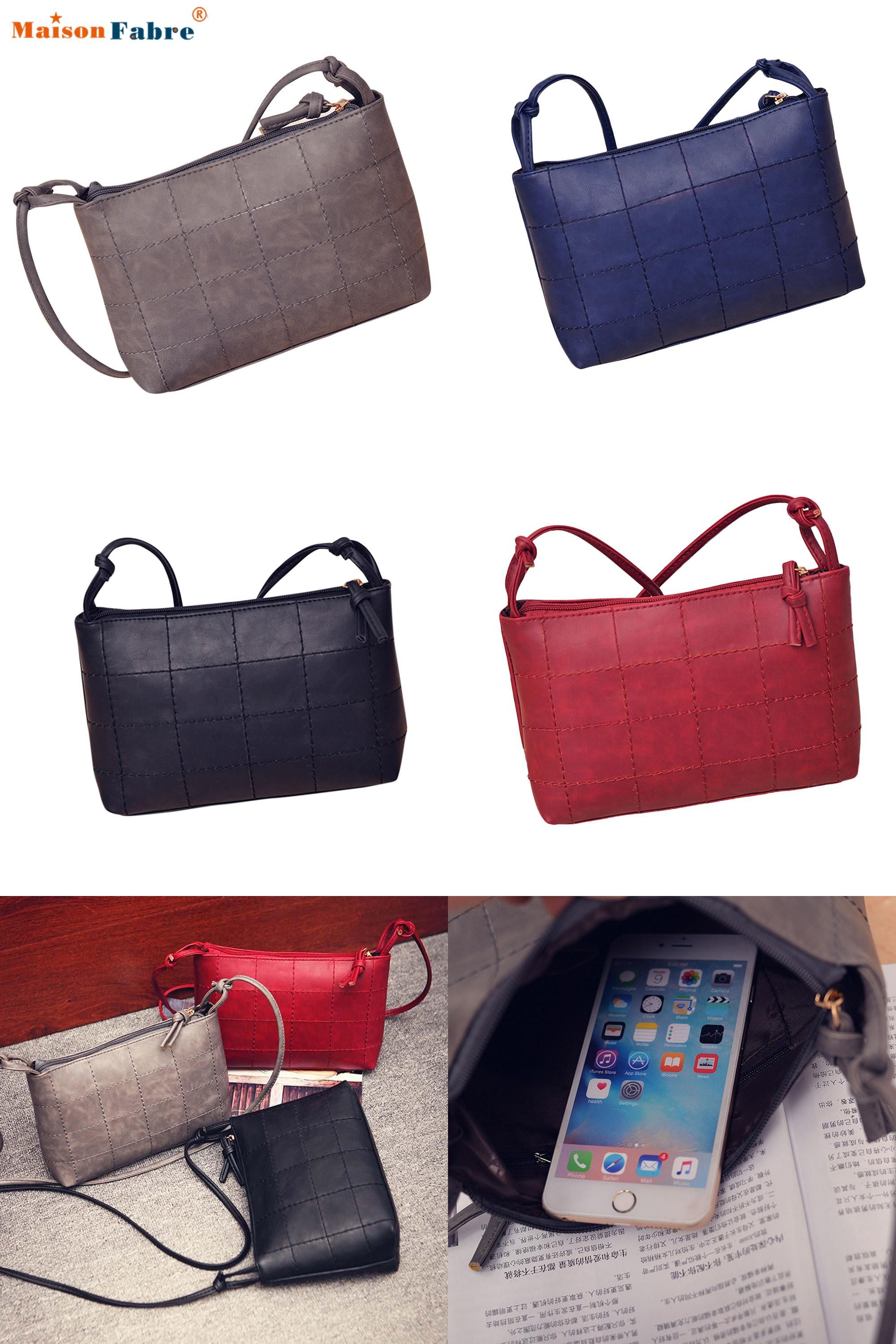 8553e6a7b4c0  Visit to Buy  Hot Sale Women Pu Leather Simple Money Messenger Bag Girls  Elegant