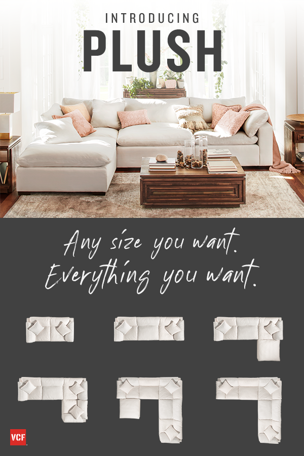 Mix and match pieces to make a cozy love seat or a mid to