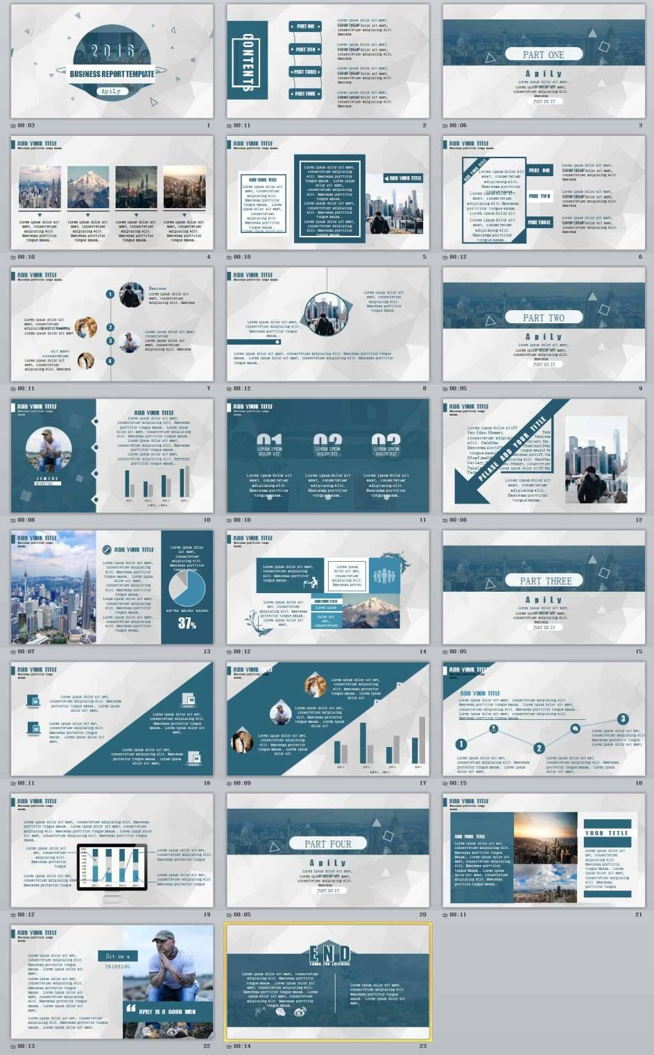 23 blue business report professional powerpoint templates 23 blue business report professional powerpoint templates powerpoint templates and keynote templates flashek Gallery