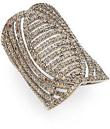 2.55 TCW Champagne Diamond & Sterling Silver Ring