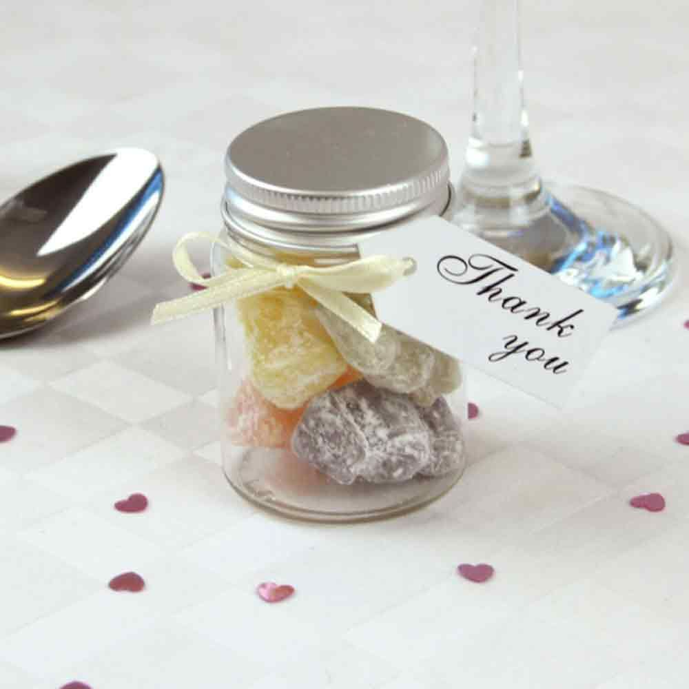 Mini Filled Wedding Favour Jar with Jelly Babies | Wedding Favours ...
