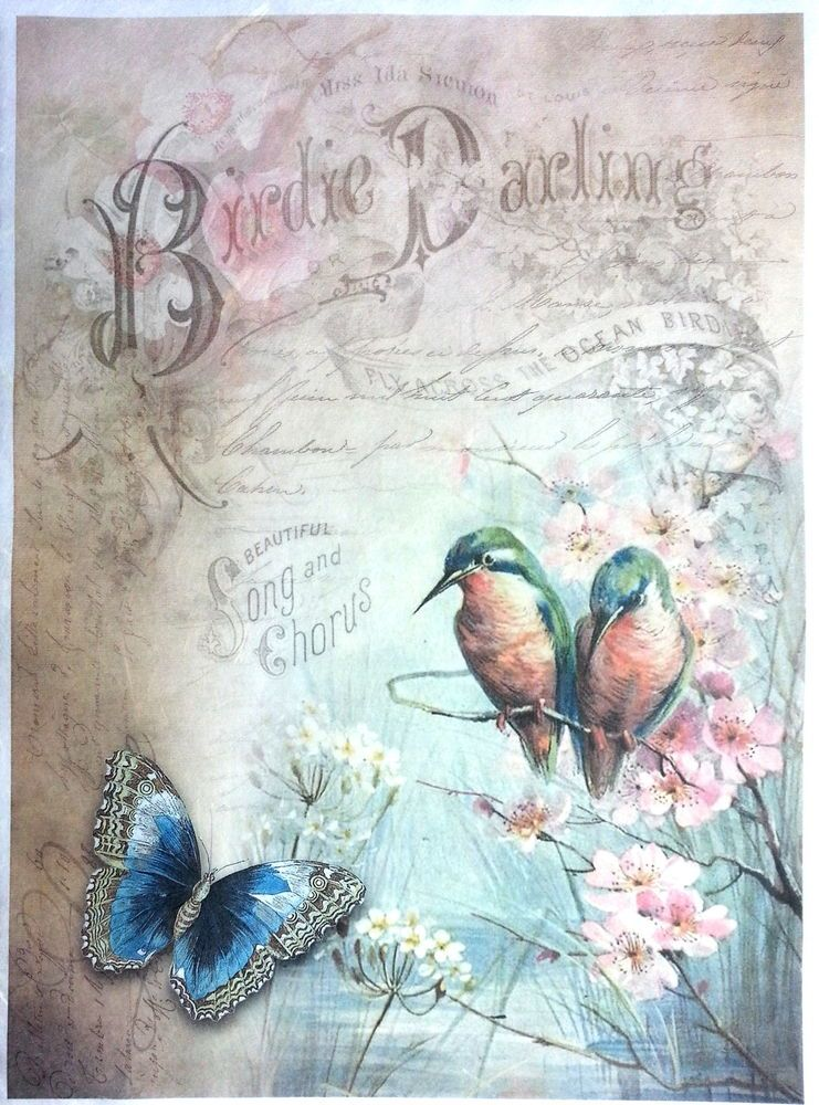 Rice Paper for Decoupage  Decopatch  Scrapbooking Sheet Craft Vintage Province