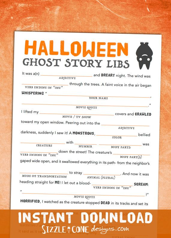 photo about Mad Libs Printable Middle School titled Entertaining Young children Halloween Sport - Halloween Crazy Libs Centre College or university