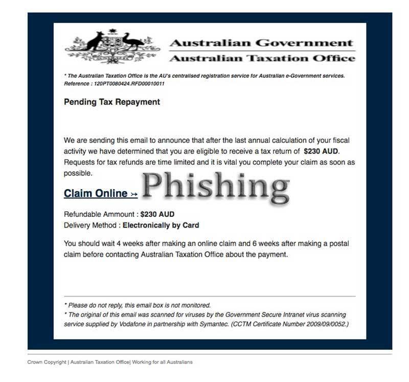 ATO Tax Refund Scam #phishing #scam #ATO | Hoax-Slayer | Tax refund