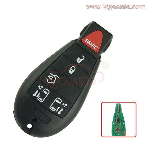 9 Fobik Key Remote 5 Button With Panic 434mhz Iyz C01c For Dodge Grand Caravan 2009 2010 2011 2012 Grand Caravan Jeep Commander European Models