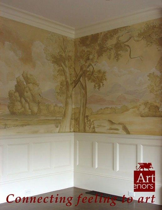 Victorian Wall Mural Mural Wall Murals Painted Interior Decorating