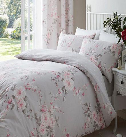 Tesco Direct Canterbury Grey Rose, Double Bedding Tesco