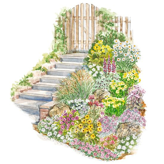 Landscaping Ideas For Sloped Front Yard: 15 No-Fuss Gardens Plans To Try In Your Garden