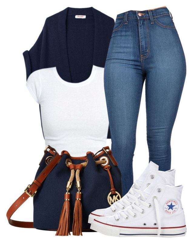 ........ by bria-queen-ovoxo on Polyvore featuring polyvore, fashion, style, Organic by John Patrick, Converse and MICHAEL Michael Kors