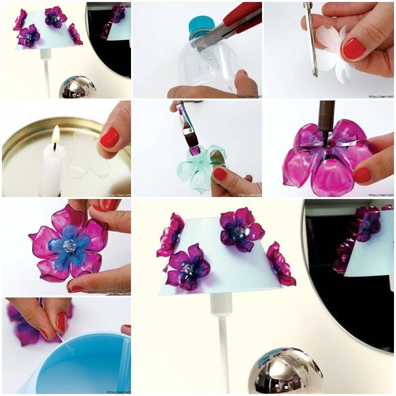 How To Make Flowers Of Recycled Plastic Bottles DIY Tutorial Instructions Do Diy Crafts It Yourself Website