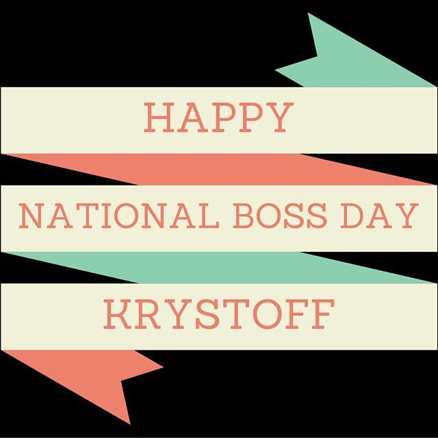 Wishing our manager Krystoff Carvonis a very happy National Boss Day! Thank you for everything you do for us! #thecarvonisgroup #nationalbossday #bossman #entrepreneur @tytoffcarvonis