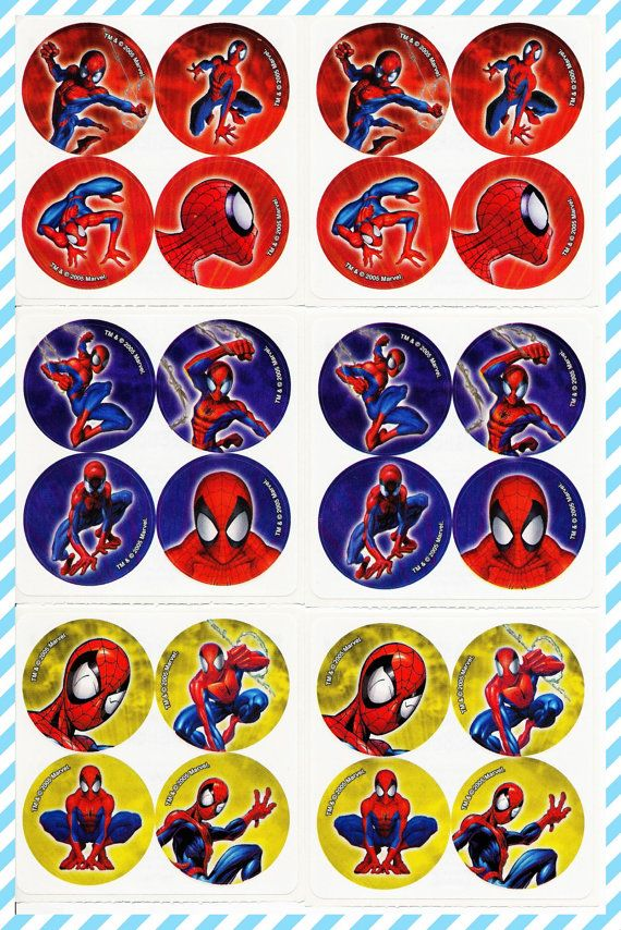 12 The Amazing Spiderman 2 Stickers Kid Reward Party Goody Loot Bag Favor Supply