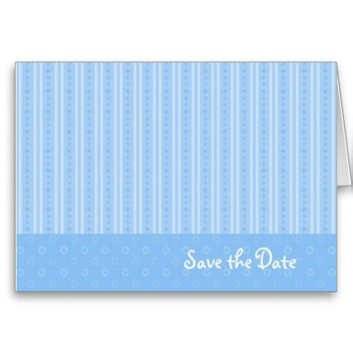 Blue Save the Date Card