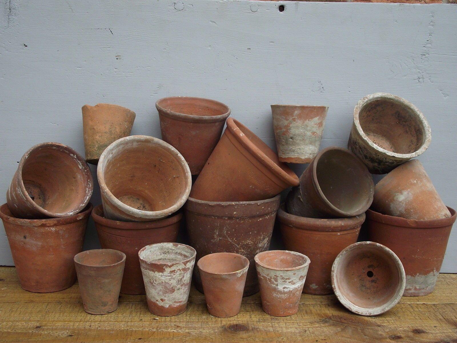Vintage English Terra Cotta Pots In Antiques Architectural Antiques Garden Terracotta Plant Pots Garden Troughs Terracotta Pots