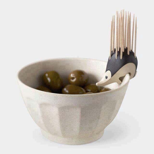 Porcupine toothpick holder dish