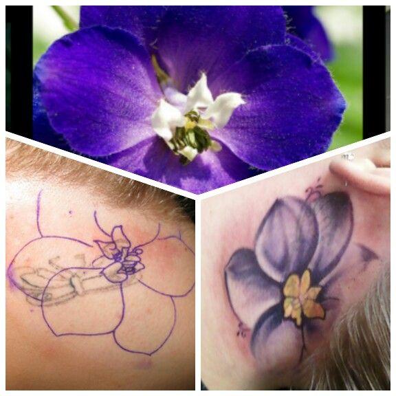 July Birth Flower Tattoo