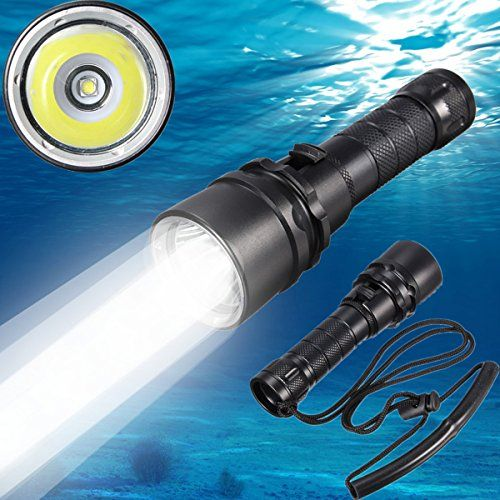 Underwater 80m XM-L2 T6 LED Diving Scuba Flashlight Waterproof Torch Light Lamp