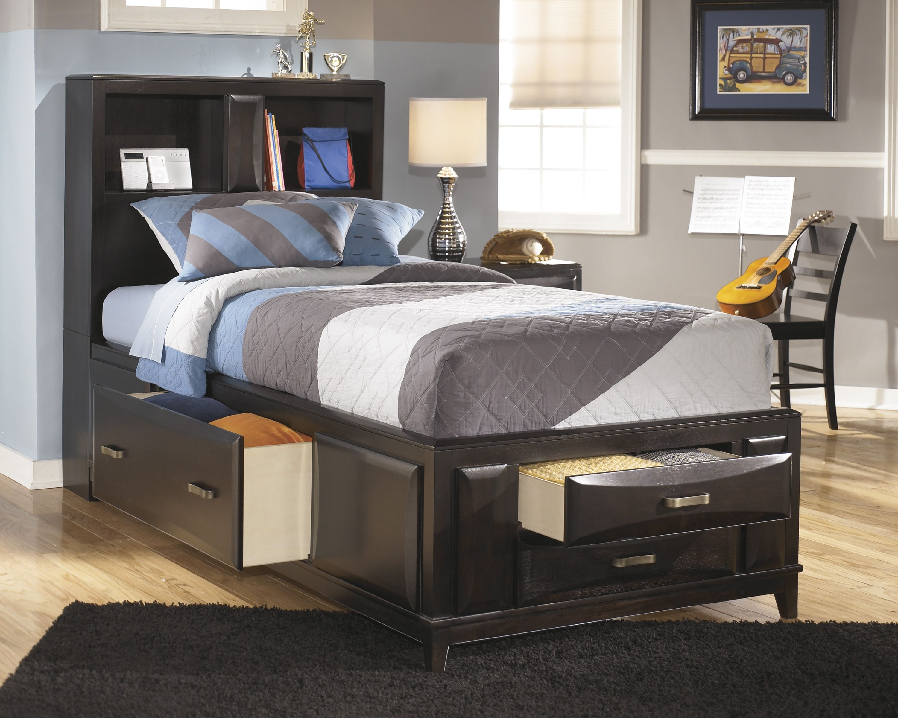Kira collection by Ashley | Bedroom | Twin storage bed, Bedroom ...