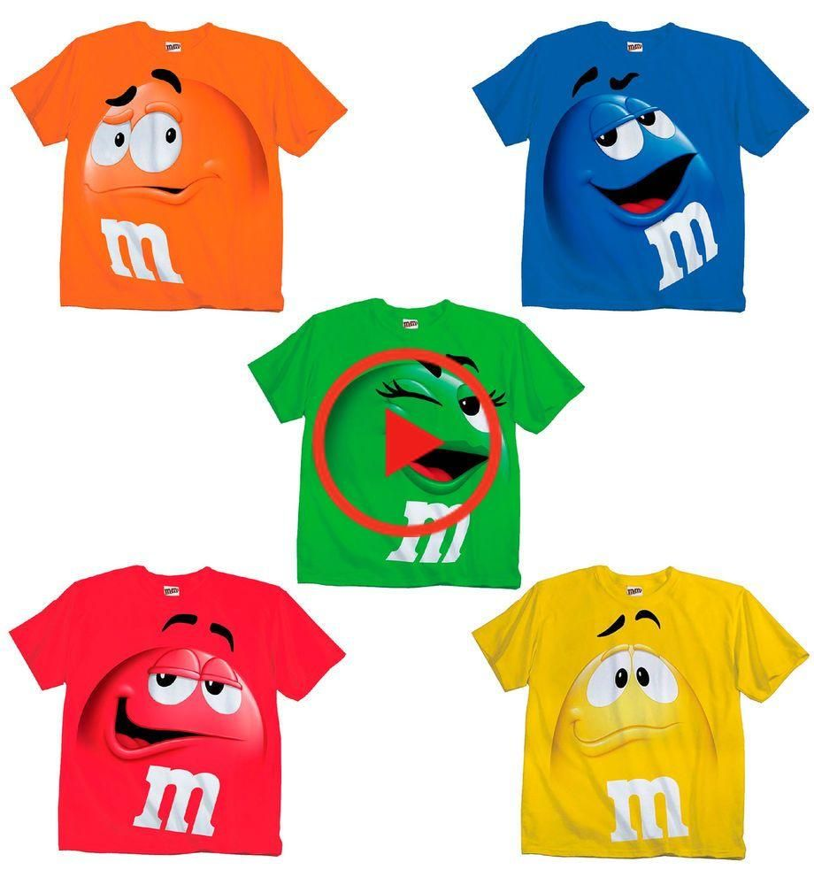 Adult & Youth Kids M&M's M&M Face Chocolate Candy Costume T-Shirt Tee M M shirt   eBay