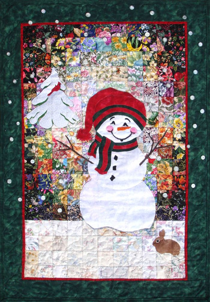 Winter wall hanging pattern and kit. Let it Snowman Quilt Kit WHIM ... : snowman rag quilt pattern - Adamdwight.com