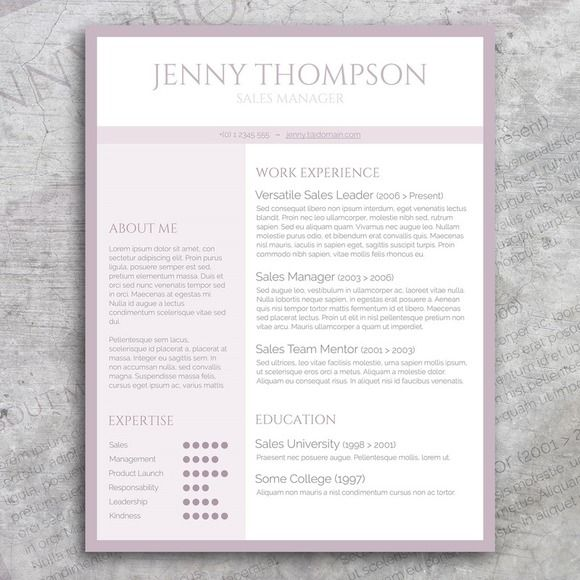 Sweet Lila Resume Template @CleanResume Resume Samples - example of an interoffice memo
