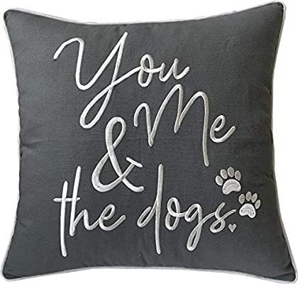 Amazon.com: DecorHouzz Pillowcases Embroidered Pet Lover Pillow Covers Gifts for…