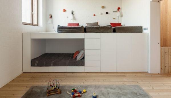 Ikea hack van een stapelbed naar hoogslaper met leeshoek roomed