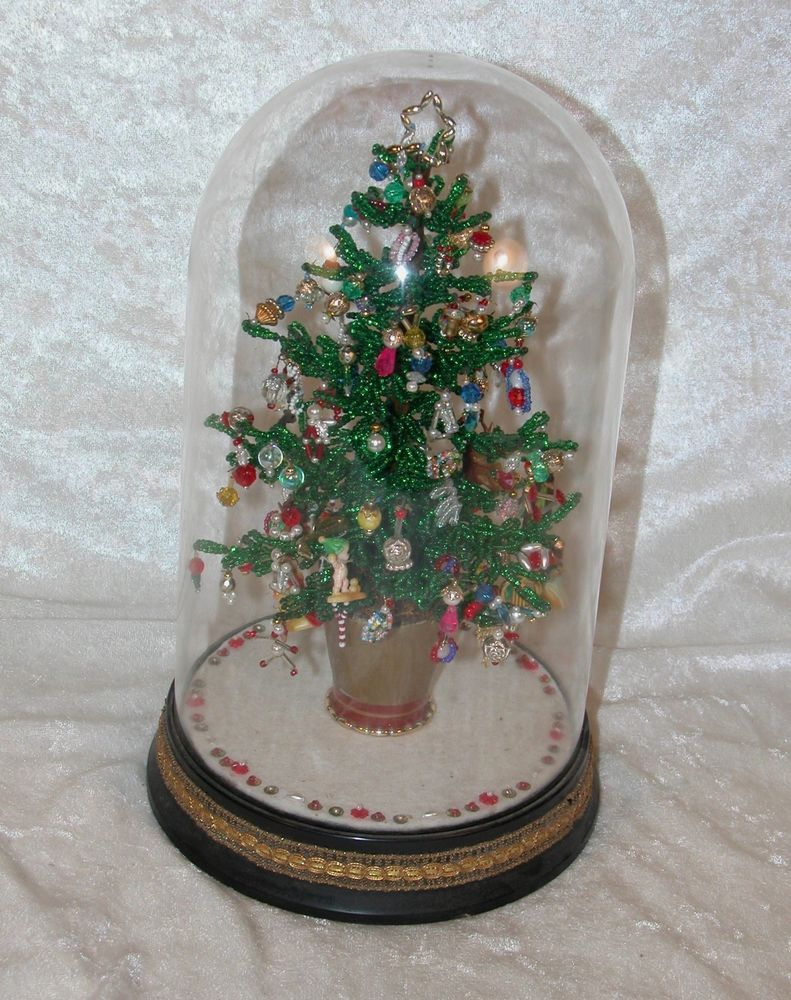"VINTAGE 11"" WESTRIM BEADED CHRISTMAS TREE FINISHED UNDER"