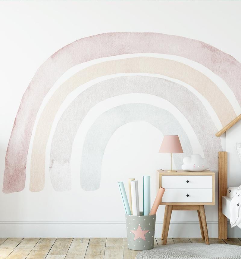 Bohemian Rainbow Wallpaper Mural Rainbow Wallpaper Wall Murals Mural Wallpaper