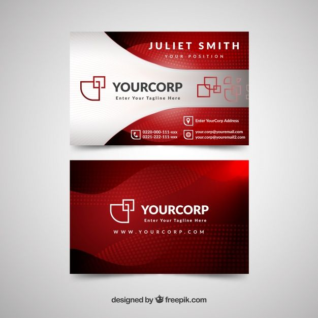 Professional Business Card With Modern Style Free Vector