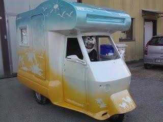 Audacieux Le camping-car Passe partout: Le piaggio ape moca camper : le plus OU-03