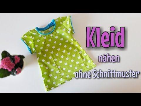 Sommer Kleid - Nähanleitung - OHNE Schnittmuster - Nähtinchen ...