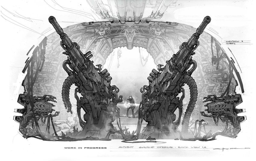 Transformers Concept Art by George Hull.