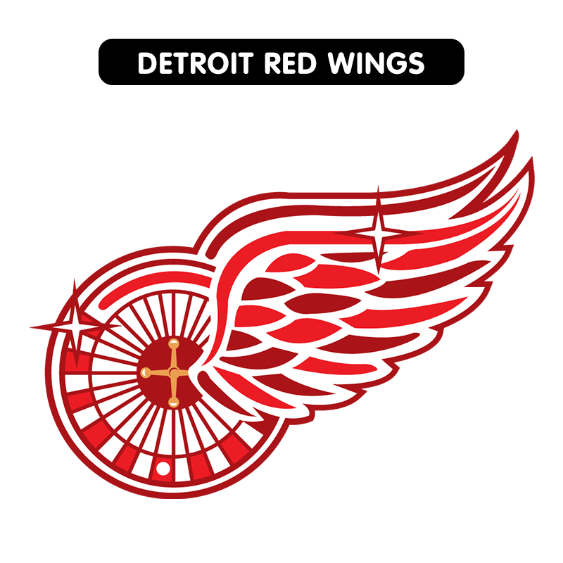 Nhl Logos Redesigned With Vegas Flair Nhl Logos American Hockey League Detroit Red Wings