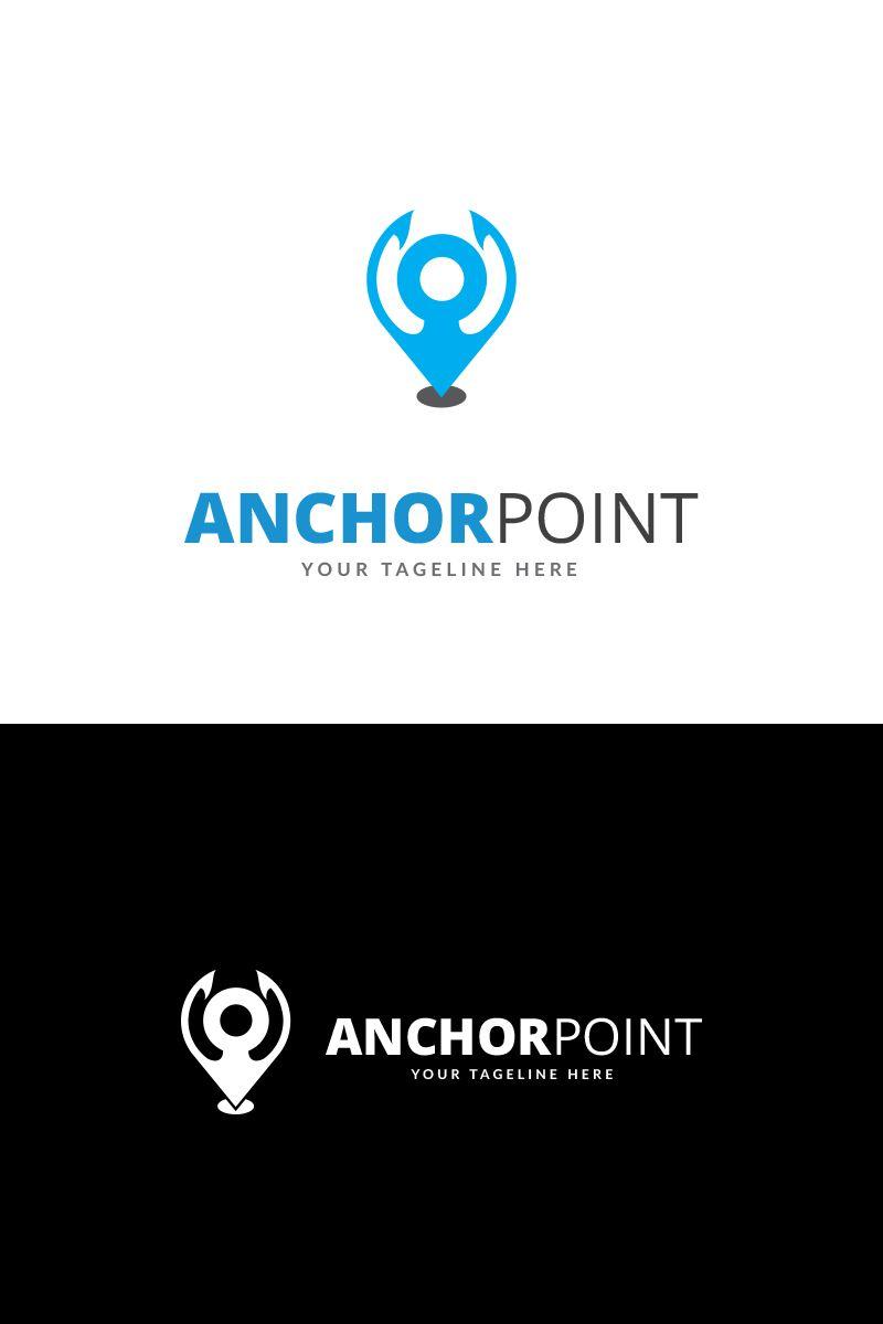 Anchor point logo template point anchor template logo