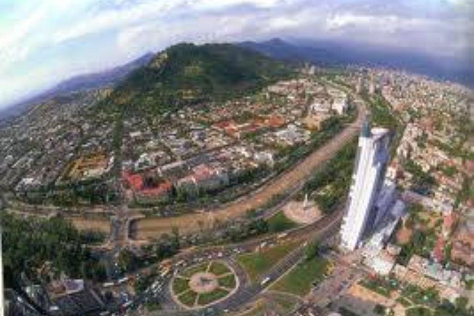 Santiago de Chile desde el aire