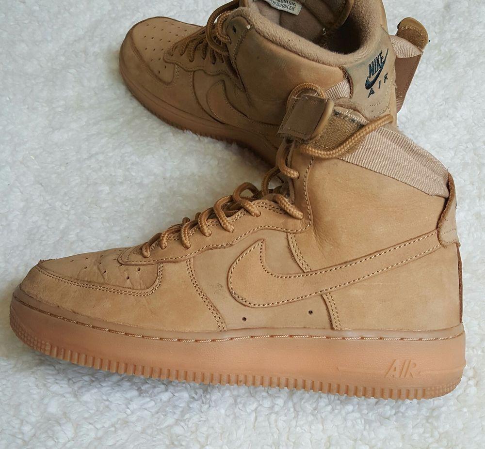Nike Air Force 1 High Lv8 Flax Wheat 807617 200 Gs Size 6y Kids