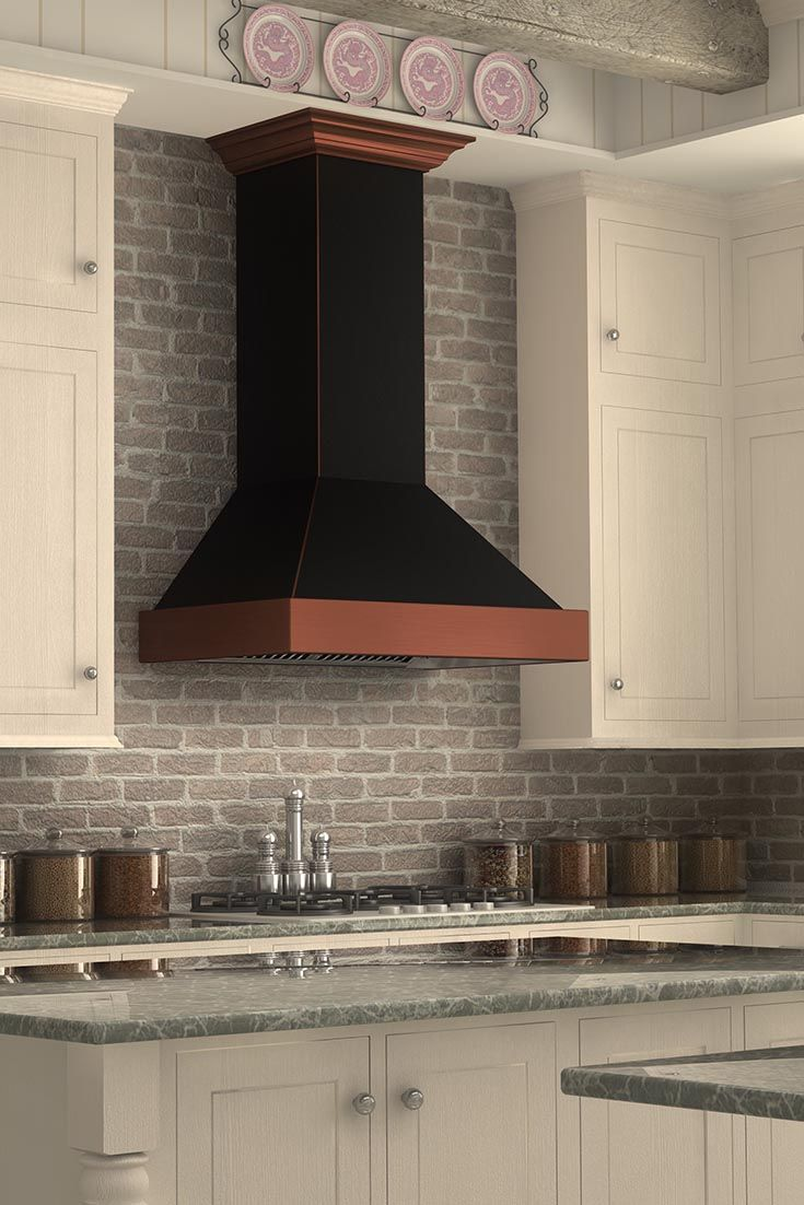 The Zline 655 Bcxxx Designer Wall Mount Copper Range Hood Looks