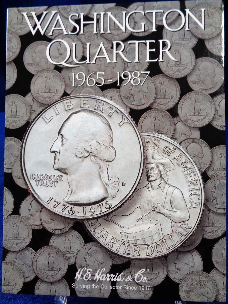 H E Harris Washington Quarter 1965 1987 Coin Folder 3 Album Book 2690 Coin Books Album Book Coins