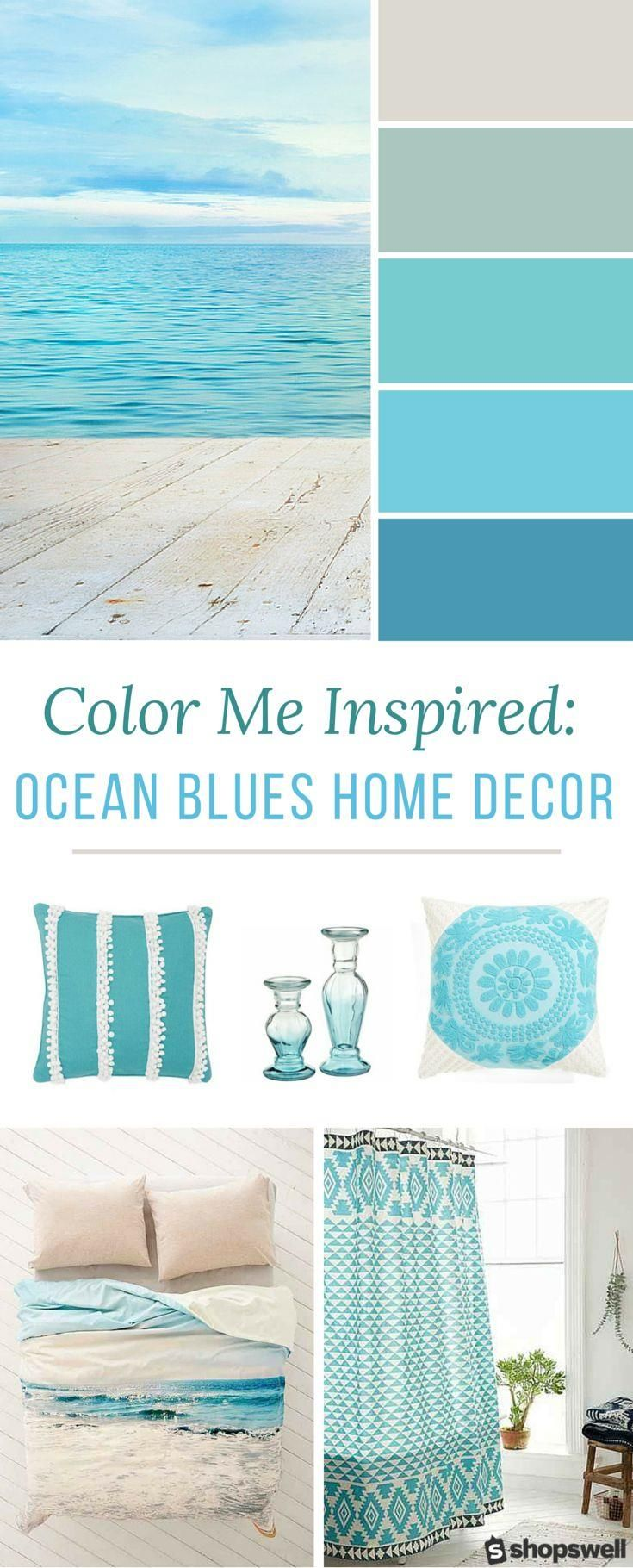 Pretty Colors For Bathroom :) Blue Ocean Tones Are The Inspiration Behind  This Summer Home Decor Collection. Decorate Your Beach House Or Simply Give  Your ...