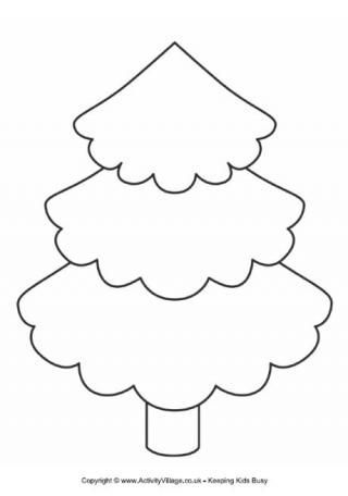 Christmas Tree Cut Out Template | tree template this pretty tree template could be useful for: