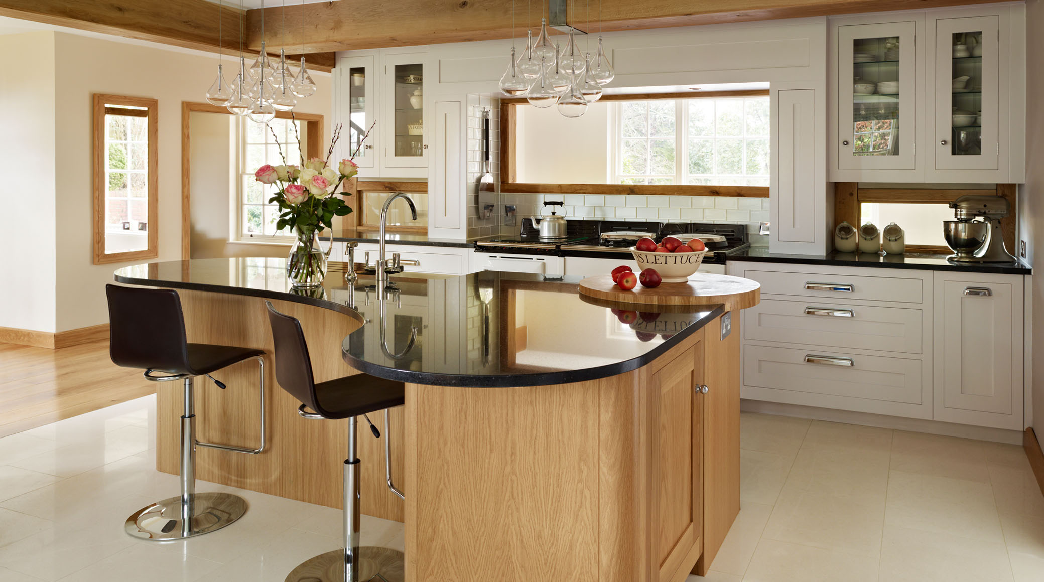 depiction of curved kitchen island ideas for modern homes