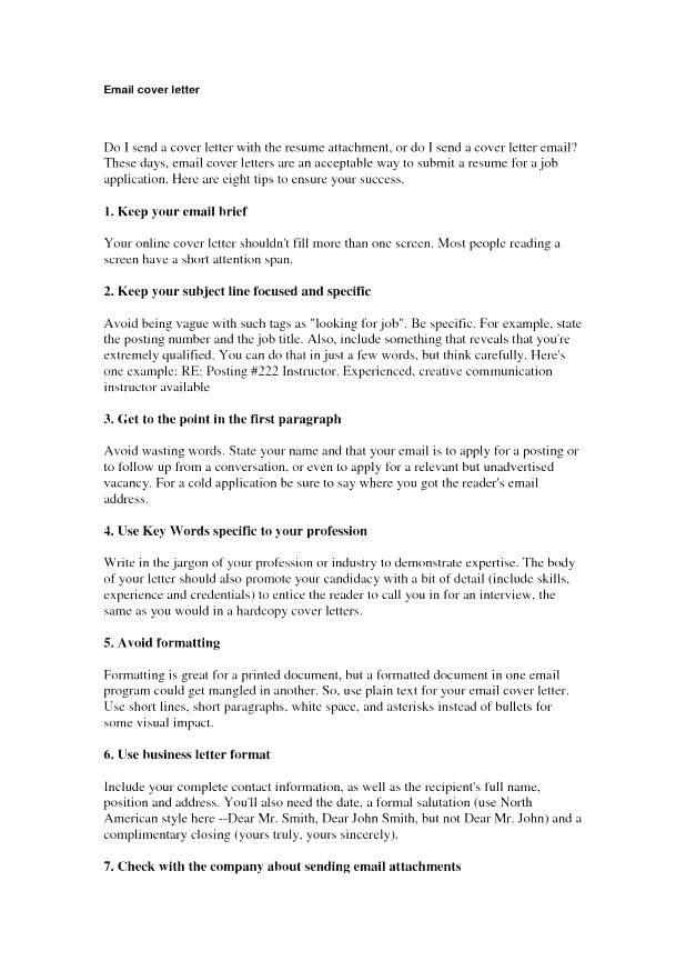 Free Downloads Cover Letters E Mail Cover Letter Submit Resume