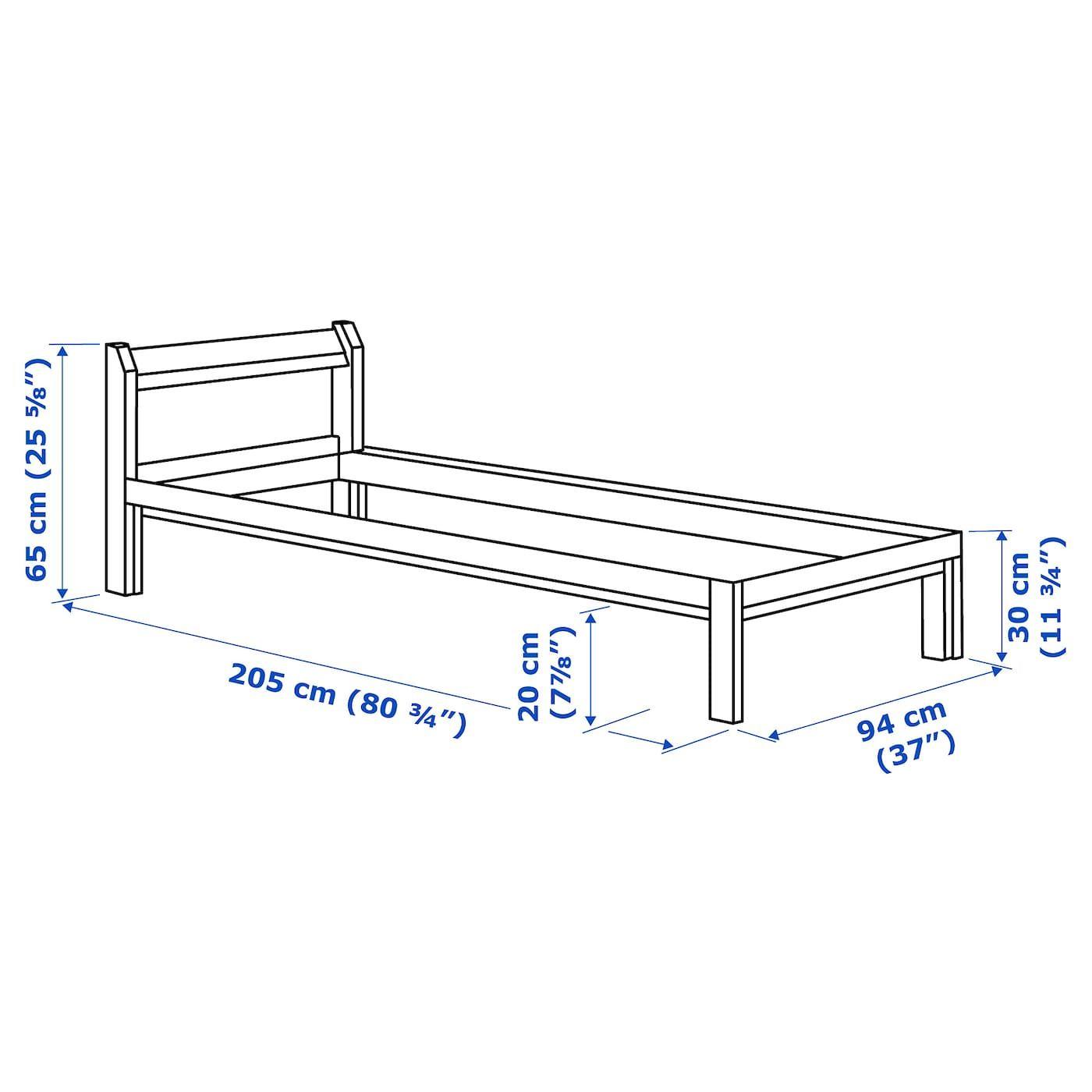 Neiden Cadre De Lit Pin 90x200 Cm Ikea In 2020 Bettgestell Ikea Federholzrahmen