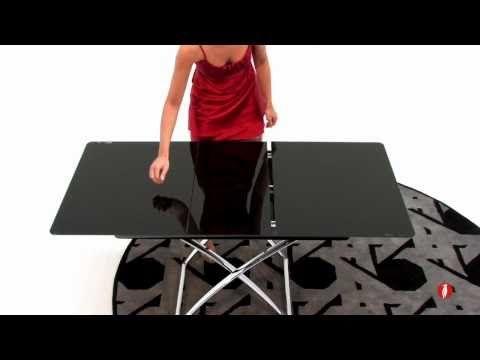 Magic-J glass: tavolino trasformabile by Calligaris