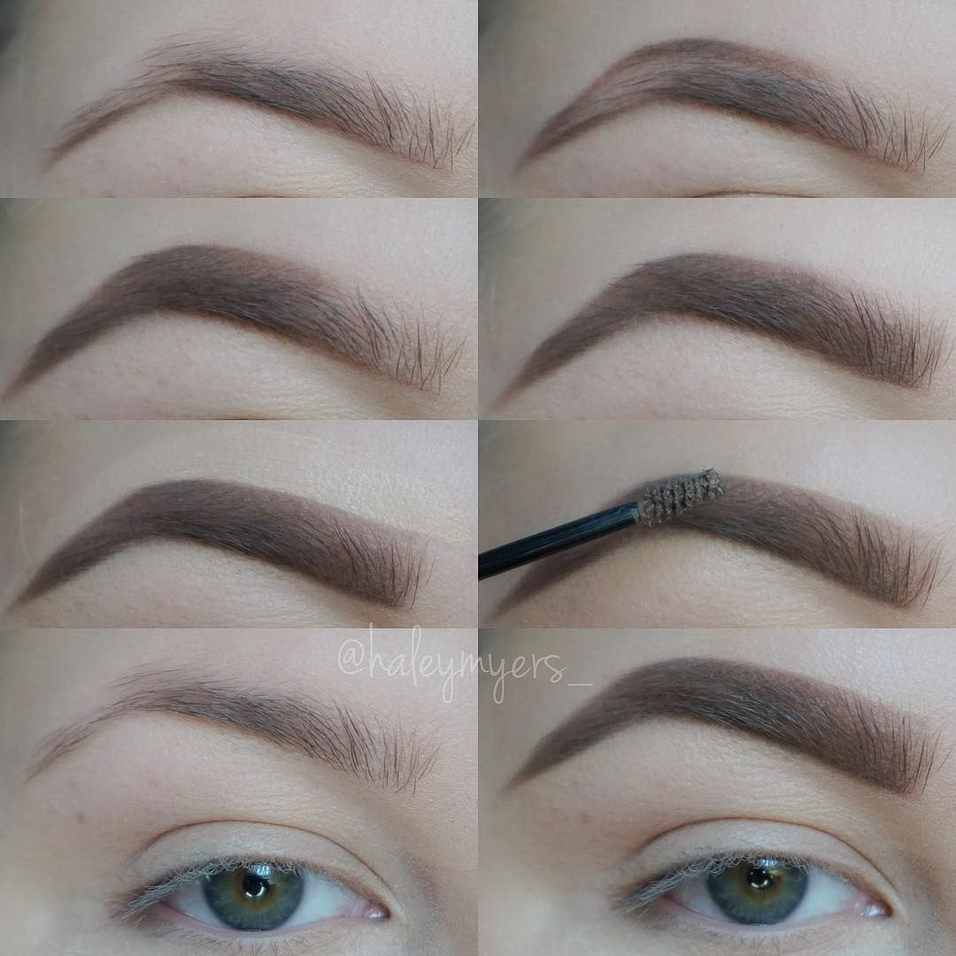 Haley Myers On Instagram Step By Step Brow Tutorial Hair And