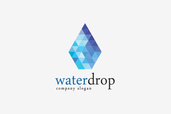 check out waterdrop logo by sionadrian on creative market geometry
